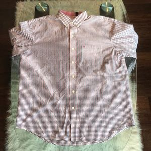 Izod Blue/Red/White Long Sleeve Button Down